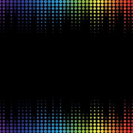soundtrack: Digital abstract equalizer. Multicolored waveform background. vector Illustration