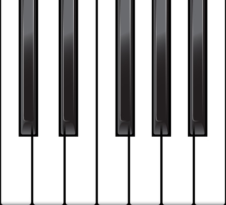 octave: Standard piano octave as a horizontal seamless. vector illustration