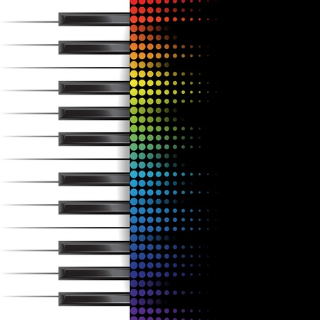 keyboard player: poster background template. Music piano keyboard. Can be used as poster element or icon. Vector illustration Illustration
