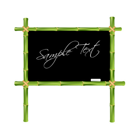 blackboard isolated: Bamboo blackboard isolated on a white background. Vector illustration.