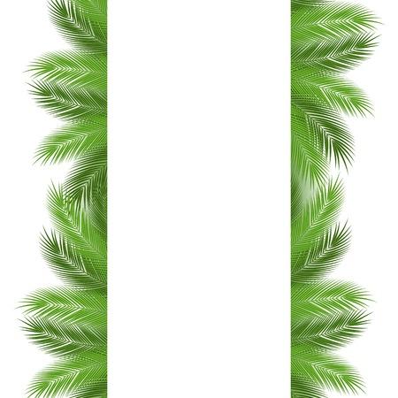 Tropical leaves. Floral design background. vector illustration