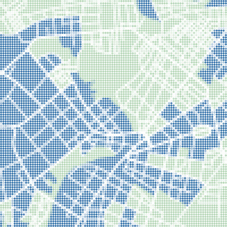 cartographer: Halftone vector street map of town. Vector illustration.