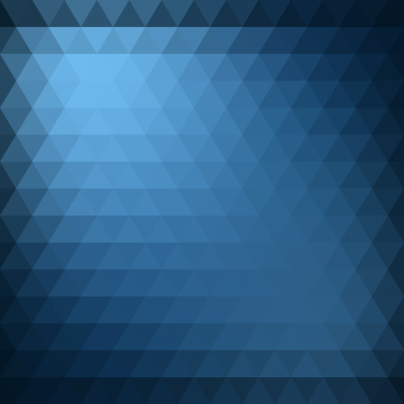 diamond background: Abstract blue triangle geometric background. Vector illustration