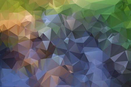river vector: Mountain and river vector triangle polygonal geometric background illustration.