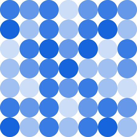 blue circles: Seamless pattern of blue circles. Vector illustration.