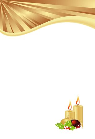 christmas candle: christmas template with candles isolated on white background. vector illustration