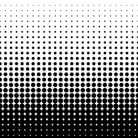 points de trame. Des points noirs sur fond blanc. illustration vectorielle