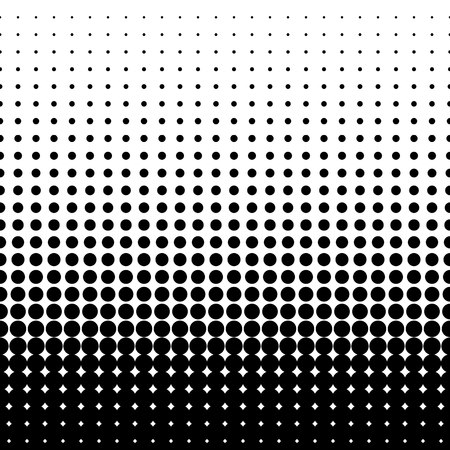 halftone dots. Black dots on white background. vector illustration Vettoriali