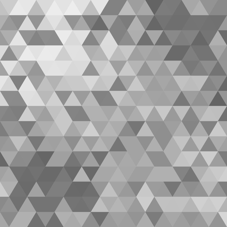 grey pattern: abstract vector pattern, repeat geometric triangle mosaic background Illustration