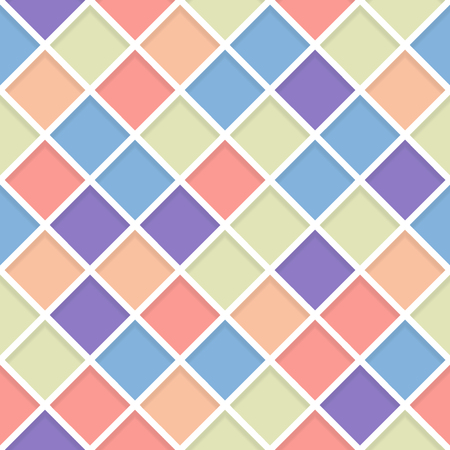 lozenge: Abstract Retro Geometric seamless pattern with lozenge. Vector Illustration