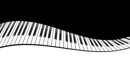 teclado: plantilla de piano, m�sica creativa ilustraci�n del concepto. Vector