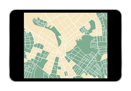 electronic guide: illustration of navigation icon set for GPS application. vector Illustration