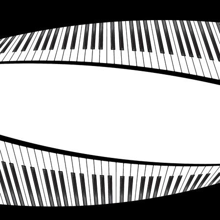 soundtrack: piano template, music creative concept illustration. Vector Illustration