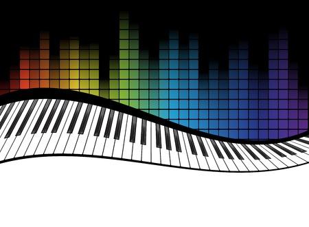 piano: cartel de la plantilla de fondo. Teclado de piano de música. Puede ser utilizado como elemento de cartel o icono. Ilustración vectorial Vectores