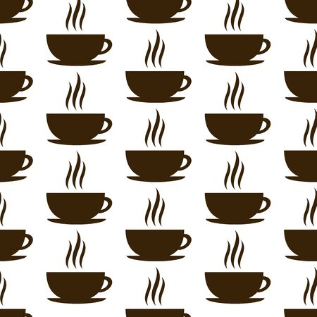 black coffee: set of cup isolated on white background. vector illustration Illustration