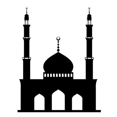 masjid: Mosque or Masjid on white background. vector illustration Illustration