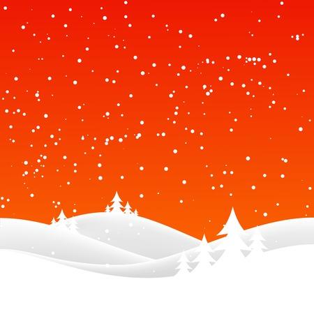 winter season: winter night landscape. Merry Christmas. vector illustration Illustration
