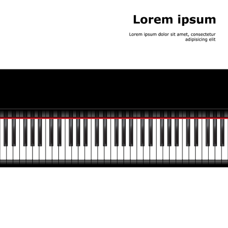 piano: Piano template, music creative concept illustration. Vector