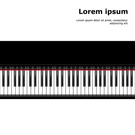 piano keys: Piano template, music creative concept illustration. Vector
