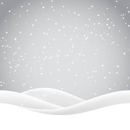 schneeflocke: Winternacht Landschaft. Frohe Weihnachten. Vektor-Illustration