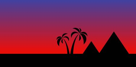 nights: Nights sky over the pyramids in Egypt . vector illustration