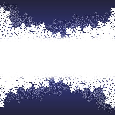 blurry lights: blue Christmas background with snowflakes and blurry lights. vector illustration
