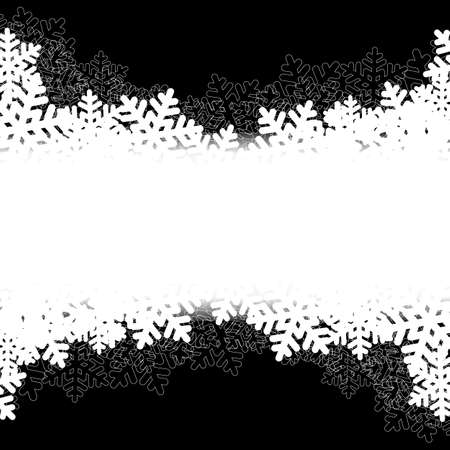 blurry lights: Black Christmas background with snowflakes and blurry lights. vector illustration Illustration