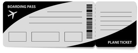isolated illustartion: Boarding Pass vector icon. isolated on white background. illustartion Illustration
