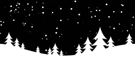 snowy hill: Winter background with snow. Christmas snow surface. vector illustration