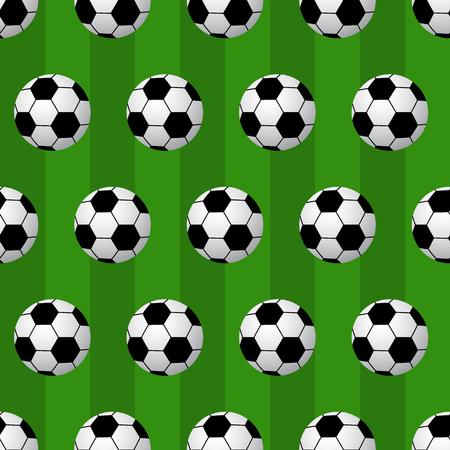 pelota de futbol: Seamless soccer ball pattern background. vector illustration