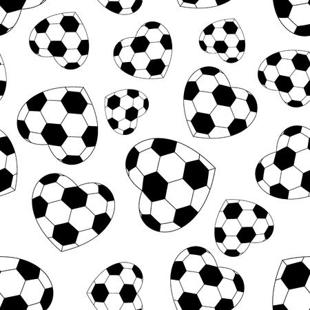 soccer field: seamless soccer heart isolated on white background. vector illustration