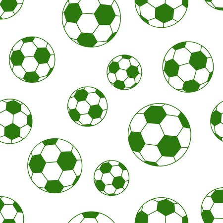 ball: seamless soccer ball isolated on white background. vector illustration Illustration