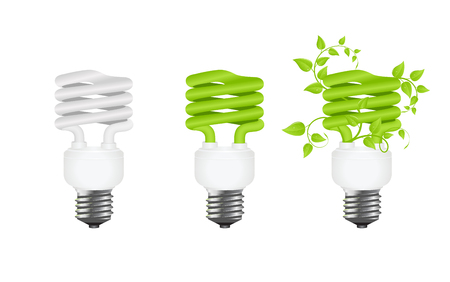 green power: power saving. green light eco concept. vector illustration