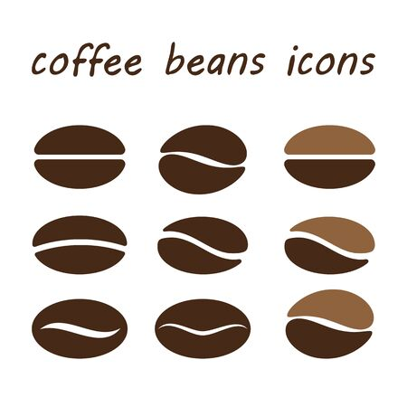 coffee beans isolated: coffee beans isolated on white background. vector illusration