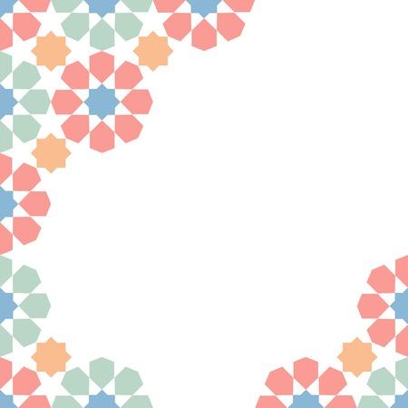 multicolor moroccan zellige mosaic template. vector illustration