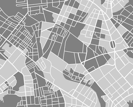 Plan miasta wzór. Bez szwu tapety. ilustracji wektorowych
