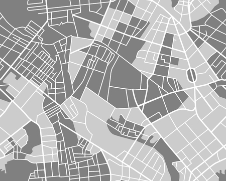 City map pattern. Seamless wallpaper. vector illustration