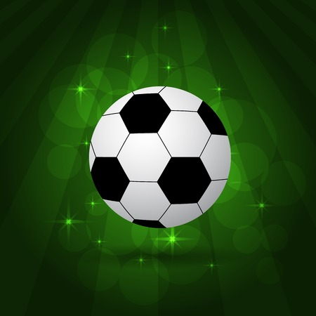 pitch: soccer balls on shiny green background, pitch. vector illustration