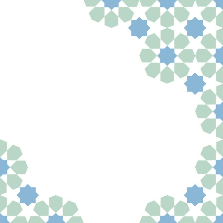 moroccan: multicolor moroccan zellige mosaic template. vector illustration