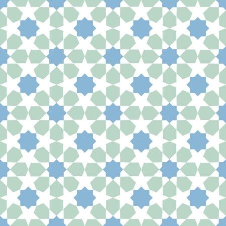 moroccan: multicolor mosaic moroccan zellige seamless. vector illustration Illustration