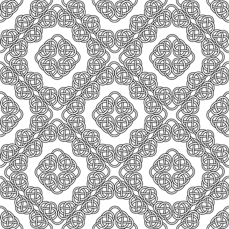 celtic seamless repeated on white background. vector illustration