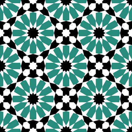 moroccan: moroccan mosaic seamless pattern background. vector illustration Illustration