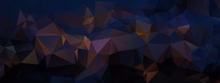 graphic background: Abstract dark polygonal background. Night landscape. Vector illustration