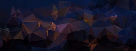 background black: Abstract dark polygonal background. Night landscape. Vector illustration