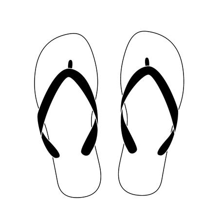 91ddf0fde9f09 white flip flops isolated on white background. vector illustration
