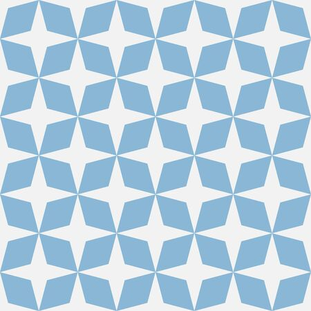 moroccan: blue mosaic moroccan zellige seamless. vector illustration Illustration
