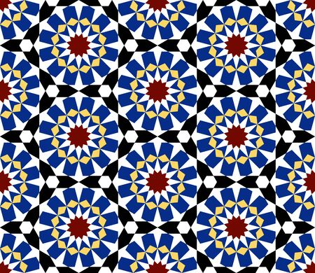 Moroccan pattern as seamless mosaic. Vector illustration
