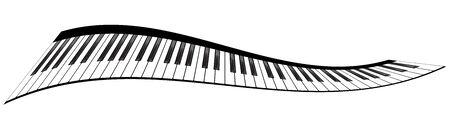Piano claviers illustrations vectorielles. Divers angles et points de vue