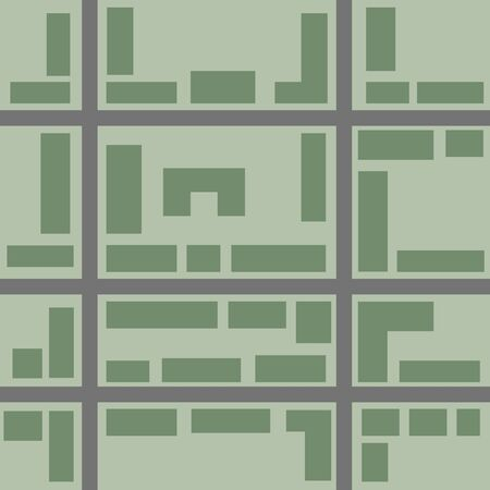 green road: City map pattern. Seamless wallpaper. vector ilustration