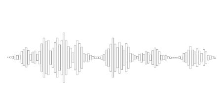 soundtrack: black and white sound waves for party isolated on white background. Vector Illustration Illustration